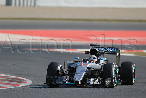 25.02.2016. Circuit de Catalunya, Barcelona, Spain. Day 4 of the Spring F1 testing and new car unvieling for 2016-17 season.  Mercedes AMG Petronas F1 W07 Hybrid – Lewis Hamilton