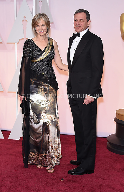 WWW.ACEPIXS.COM<br /> <br /> February 22 2015, Los Angeles Ca.<br /> <br /> Bob Iger and Willow Bay arriving at the 87 th Annual Academy Awards at the Hollywood and Highland center on February 22 2015 in Hollywood CA.<br /> <br /> <br /> Please byline: Z15/ACE Pictures<br /> <br /> ACE Pictures, Inc.<br /> www.acepixs.com<br /> Email: info@acepixs.com<br /> Tel: 646 769 0430