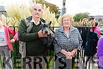 Pat and Mary O'Mahony from Headford, Killarney pictured with their dog Trixie at the Animals Blessing in the Franciscans Friary Church, Killarney last Sunday.