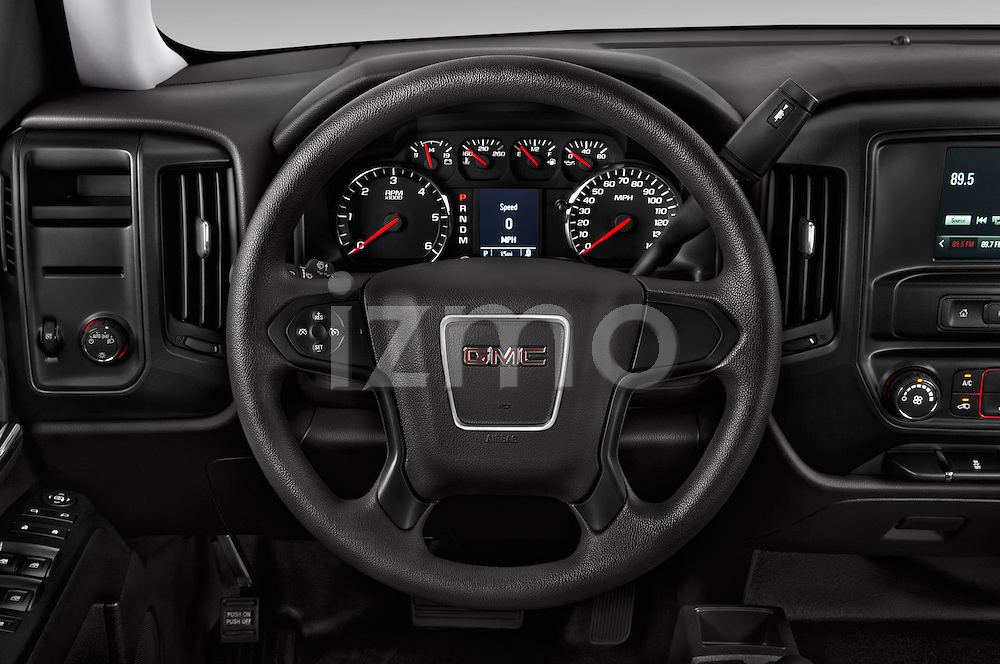 Car pictures of steering wheel view of a 2016 GMC Sierra 1500 2WD Crew Cab Short Box 4 Door Pick-up Steering Wheel