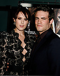 """HOLLYWOOD, CA. - September 03: Rumer Willis and Micah Alberti arrive at the Los Angeles premiere of """"Sorority Row"""" at the ArcLight Hollywood theater on September 3, 2009 in Hollywood, California."""