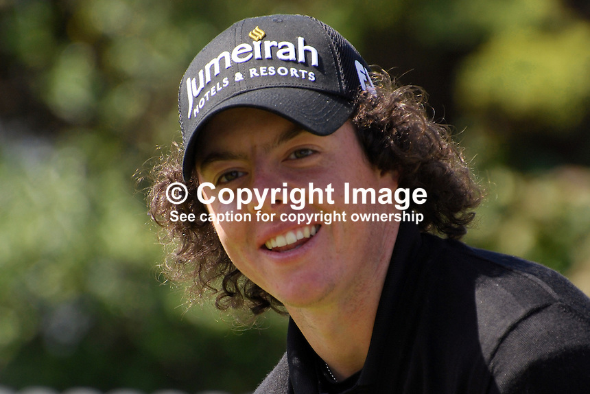 Rory McIlroy, professional golfer, N Ireland, UK, on the first tee. 200905122236..Taken at the Irish Open practice day, Tuesday, 12th May, 2009, at Baltray...Copyright Image from Victor Patterson, 54 Dorchester Park, Belfast, UK, BT9 6RJ..Tel: +44 28 9066 1296.Mob: +44 7802 353836.Voicemail +44 20 8816 7153.Skype: victorpattersonbelfast.Email: victorpatterson@mac.com.Email: victorpatterson@ireland.com (back-up)..IMPORTANT: If you wish to use this image or any other of my images please go to www.victorpatterson.com and click on the Terms & Conditions. Then contact me by email or phone with the reference number(s) of the image(s) concerned.