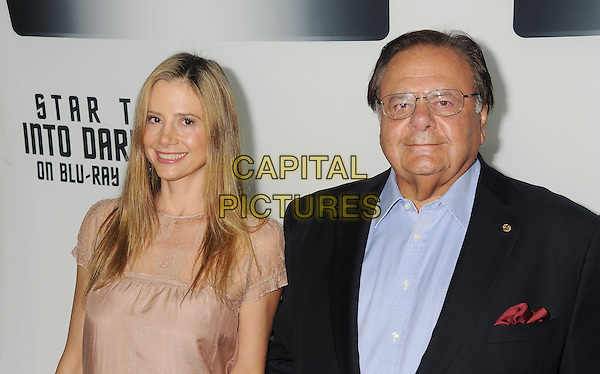 Paul Sorvino, Mira Sorvino<br /> &quot;Star Trek Into Darkness&quot; DVD/Blu-Ray Release held at the California Science Center, Los Angeles, California, USA.<br /> September 10th, 2013<br /> half length dress beige lace black suit jacket shirt father dad daughter family     <br /> CAP/ROT/TM<br /> &copy;Tony Michaels/Roth Stock/Capital Pictures