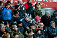 Swansea City Fans during the Barclays Premier League match between Swansea City and Southampton  played at the Liberty Stadium, Swansea  on February 13th 2016