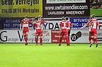 2015-10-31 / Voetbal / seizoen 2015-2016 / Hoogstraten VV - Tempo Overijse / svbo / Hoogstraten kon aanvankelijk nog vieren na de 1-0 van Jeroen Meeuwis, maar die vreugde was van korte duur.<br /><br />Foto: Mpics.be