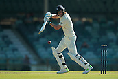 November 4th 2017, WACA Ground, Perth Australia; International cricket tour, Western Australia versus England, day 1; Dawid Malan plays a square drive during his innings