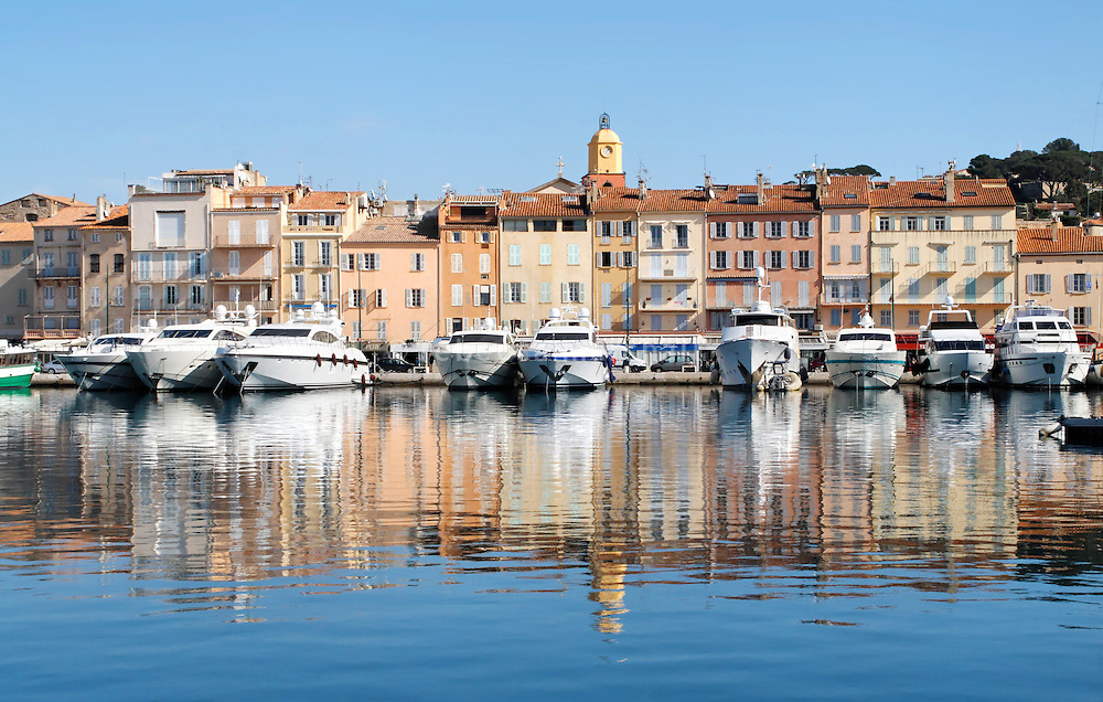 St Tropez port, St Tropez, France, 23 February 2009