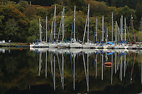 Yachts moored at Bellandoch Locks, Crinan Canal, Argyll & Bute<br /> <br /> Copyright www.scottishhorizons.co.uk/Keith Fergus 2011 All Rights Reserved