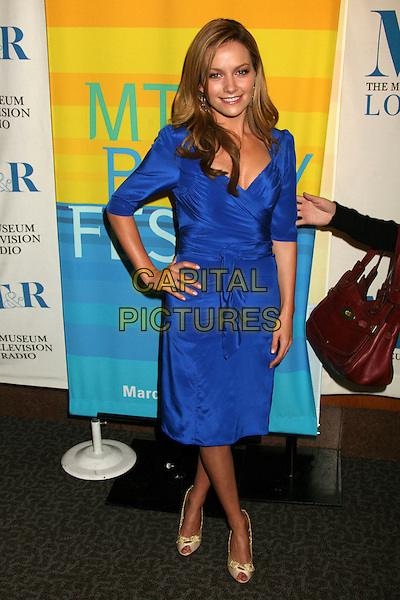 """BECKI NEWTON .MT & R's 24th Annual William S. Paley Television Festival, """"Ugly Betty"""" at the Directors Guild, West Hollywood, California, USA..March 12th, 2007.full length dress hand on hip blue.CAP/ADM/BP.©Byron Purvis/AdMedia/Capital Pictures"""
