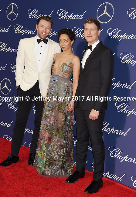 PALM SPRINGS, CA - JANUARY 02: (L-R) Actor Joel Edgerton, actress Ruth Negga and director Jeff Nichols attend the 28th Annual Palm Springs International Film Festival Film Awards Gala at the Palm Springs Convention Center on January 2, 2017 in Palm Springs, California.