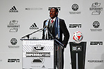 16 January 2014: Andre Blake was select with the first overall pick of the draft by the Philadelphia Union. The 2014 Major League Soccer SuperDraft was held at the NSCAA Annual Convention in the Pennsylvania Convention Center in Philadelphia, Pennsylvania.