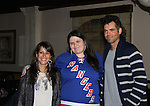 General Hospital - Kimberly McCullough and Jason Thompson poses with fan Kerry Quinn who showed them two hugh books with all photos of them from the magazines at Uncle Vinnie's Comedy Club in Point Pleasant, New Jersey on Novermber 14, 2010 for fun, questions. photos and autographs. (Photo by Sue Coflin/Max Photos)