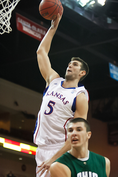 Nov. 26, 2010. Las Vegas, NV: The Kansas Jayhawks' Jeff Withey dunks in the Las Vegas Invitational at the Orleans Arena.