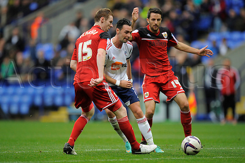 20.10.2012 Bolton, England.Chris Eagles of Bolton  in action during the Championship game between Bolton Wanderers and Bristol City from the Reebok Stadium.