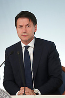 Italian Prime Minister Giuseppe Conte<br /> Roma 24/07/2018. Conferenza stampa al termine del Consiglio dei Ministri.<br /> Rome 24th of July. Press conference at the end of Ministers Cabinet .<br /> Foto Samantha Zucchi Insidefoto