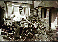 BNPS.co.uk (01202)558833Pic: H&amp;H/BNPS<br /> <br /> F.P. 'Gentleman' Dickson on the SS100 before the 1930 race.<br /> <br /> A vintage motorbike that has a tragic past and is in a jumble of parts has sold for a world record price of &pound;425,000.<br /> <br /> The 1930 Brough SS100 was ridden in a fateful race by the British biker FP 'Gentleman' Dickson alongside teammate George Brough, the engineer behind the famous machine. <br /> <br /> Dickson died after crashing the bike at a race in Switzerland in August 1930.<br /> <br /> The SS100 was later owned by motorbike enthusiast for almost 50 years. He had intended to restore the machine but died before he could complete project.