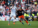 Darren Potter of MK Dons in action with Paul Coutts of Sheffield Utd during the English League One match at  Stadium MK, Milton Keynes. Picture date: April 22nd 2017. Pic credit should read: Simon Bellis/Sportimage