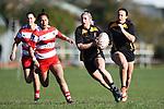 NELSON, NEW ZEALAND - JULY 13: Div 1 Women's Rugby - Waimea Old Boys v Motueka High School. Jubilee Park, Richmond 13 July 2019 in Motueka, New Zealand. (Photo by Chris Symes/Shuttersport Limited)