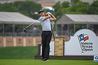 Richy Werenski (USA) watches his tee shot on 11 during day 1 of the Valero Texas Open, at the TPC San Antonio Oaks Course, San Antonio, Texas, USA. 4/4/2019.<br /> Picture: Golffile | Ken Murray<br /> <br /> <br /> All photo usage must carry mandatory copyright credit (© Golffile | Ken Murray)