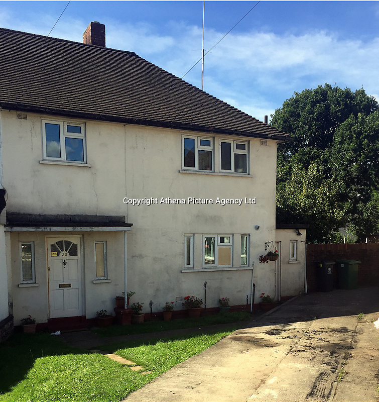 """Pictured: The house where John and Eva McMurray, the grandparents of footballer Gareth Bale live in Cardiff, Wales, UK<br /> Re: The elderly grandparents of soccer star Gareth Bale's fiancee have gone into hiding after a suspected """"grudge attack"""" on their home.<br /> Pensioners John McMurray, 79, and wife Eva, 84, were asleep when their car was set on fire and bricks hurled through their windows.<br /> Real Madrid star Gareth, 27, was yesterday(sun) comforting Emma Rhys Jones, 25, who always visits the couple when she is home from Spain.<br /> Retired gamekeeper Mr McMurray and his wife have been moved into a safe house while police investigate the arson attack in Llanishen, Cardiff.<br /> A neighbour said: """"We were woken up by a loud crack and a flash - I could see the car was on fire in their driveway.<br /> """"I called the fire brigade and I could see the McMurray's trying to get out of their house."""