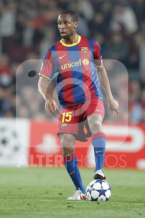 Barcelona's Seydou Keita during Champions League match on April, 6th 2011...Photo: Acero / Cebolla / ALFAQUI