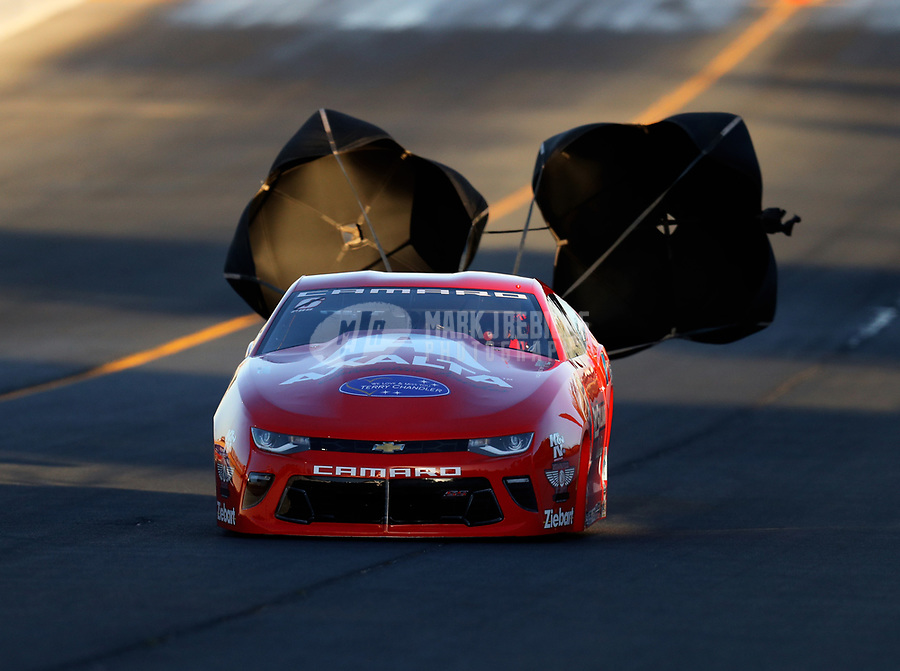 Jul 28, 2017; Sonoma, CA, USA; NHRA pro stock driver Drew Skillman during qualifying for the Sonoma Nationals at Sonoma Raceway. Mandatory Credit: Mark J. Rebilas-USA TODAY Sports