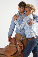 CLINCH WESTERN STOCK IMAGES
