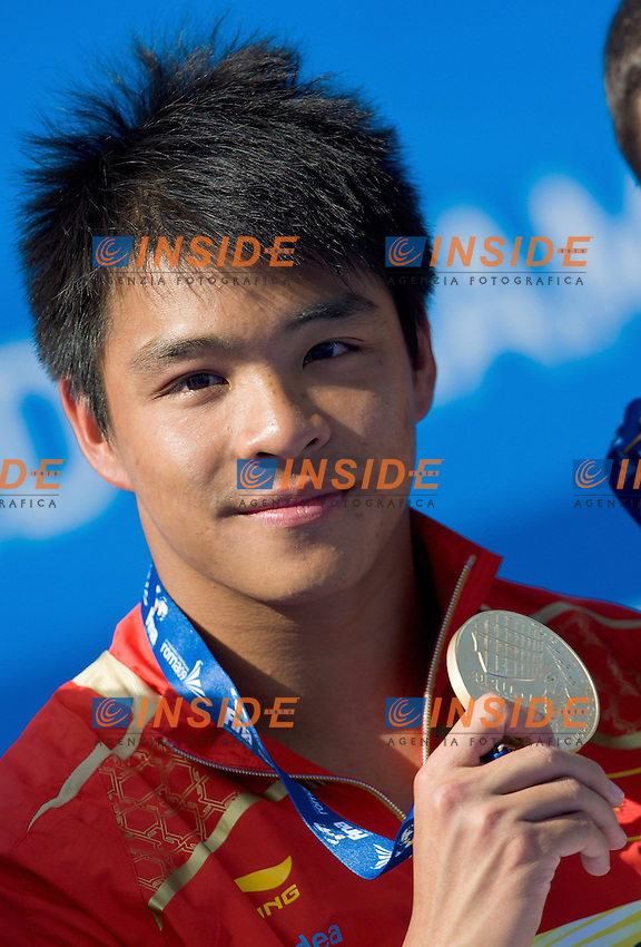 Roma 24st July 2009 - 13th Fina World Championships From 17th to 2nd August 2009.3 m Men's Springboard.He Chong CHN Gold Medal.Dumais Troy Silver Medal.Despatie Alexandre CAN.photo: Roma2009.com/InsideFoto/SeaSee.com