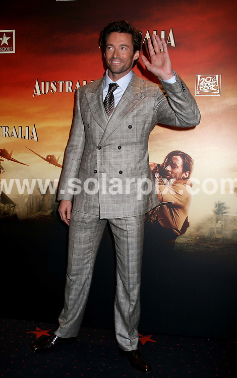 **ALL ROUND PICTURES FROM SOLARPIX.COM**.**SYNDICATION RIGHTS FOR UK, CANADA, USA, SOUTH AFRICA, SOUTH AMERICA, DUBAI, AUSTRALIA, NEW ZEALAND, GREECE, ASIA & RUSSIA**.The film Premiere in Madrid, at Kinepolis Cinema of the latest  Nicole Kidman film Australia the director of the film Baz Luhrmann,.and production director Catherine Martin with the actor Hugh Jackman in Madrid..this pic:Hugh Jackman .JOB REF:8061-SPA     DATE:02-12-08.**MUST CREDIT SOLARPIX.COM OR DOUBLE FEE WILL BE CHARGED* *UNDER NO CIRCUMSTANCES IS THIS IMAGE TO BE REPRODUCED FOR ANY ONLINE EDITION WITHOUT PRIOR PERMISSION*