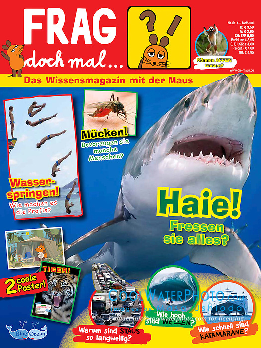 Frag doch mal die Maus magazine, May 2014, magazine cover use, editorial, Germany
