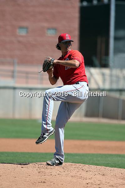 Jake McDavid - Los Angeles Angels 2016 spring training (Bill Mitchell)