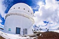 Canada-France-Hawaii Telescope ( CFHT ), Gemini Northern 8-meter Telescope, and other Mauna Kea Observatories in background, Mauna Kea summit, Big Island, Hawaii, USA