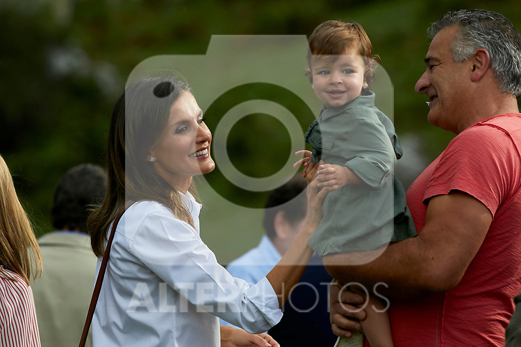 Queen Letizia of Spain visit the Enol lake in Asturias, Spain. September 08, 2018. (ALTERPHOTOS/A. Perez Meca)