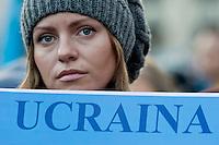 Manifestazione anti-governativa degli ucraini a Roma