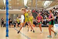 Central Manawa&rsquo;s Grace McLean in action during the Beko Netball League - Central Manawa v Southern Blast at ASB Sports Centre, Wellington, New Zealand on Sunday 12 May 2019. <br /> Photo by Masanori Udagawa. <br /> www.photowellington.photoshelter.com