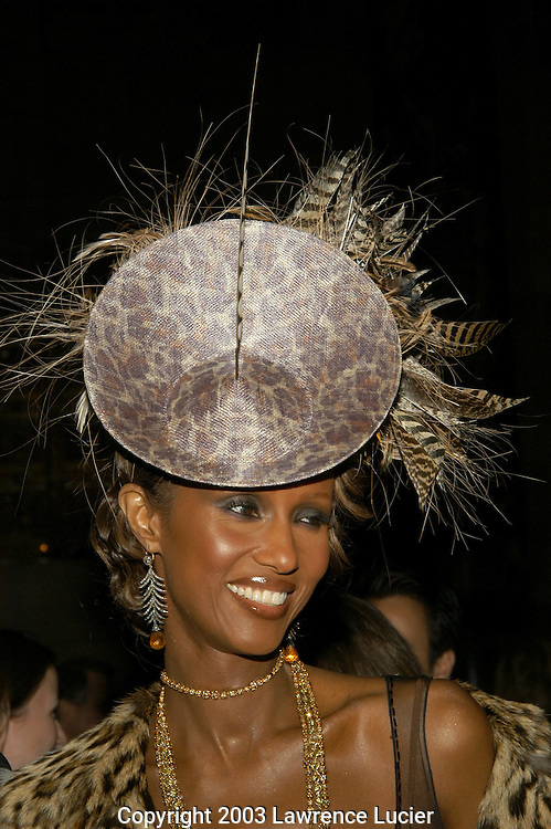 Iman in a Philip Treacy hat