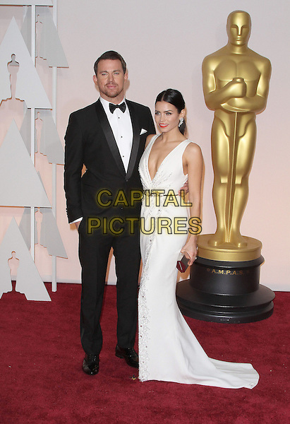 22 February 2015 - Hollywood, California - Channing Tatum, Jenna Dewan-Tatum. 87th Annual Academy Awards presented by the Academy of Motion Picture Arts and Sciences held at the Dolby Theatre. <br /> CAP/ADM<br /> &copy;AdMedia/Capital Pictures Oscars