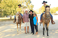 LOS ANGELES - AUG 27: Clay Walker, Ken Smith, Tina Smith at the Clay Walker Country at the Downs concert  at Galway Downs on August 27, 2017 in Temecula, California