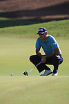 Gregory Hacert eyes up his putt on the first.on day one of the Dubai World Championship on the Earth Course at the Jumeirah Golf Estate, Dubai..Picture Fran Caffrey/www.golffile.ie.