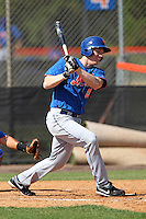 New York Mets outfielder Sam Honeck #19 at bat during a minor league spring training intrasquad game at the Port St. Lucie Training Complex on March 27, 2012 in Port St. Lucie, Florida.  (Mike Janes/Four Seam Images)