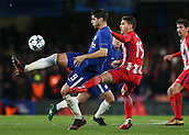 5th December 2017, Stamford Bridge, London, England; UEFA Champions League football, Chelsea versus Atletico Madrid; Lucas Hernandez of Atletico Madrid fouls Alvaro Morata of Chelsea from bhind