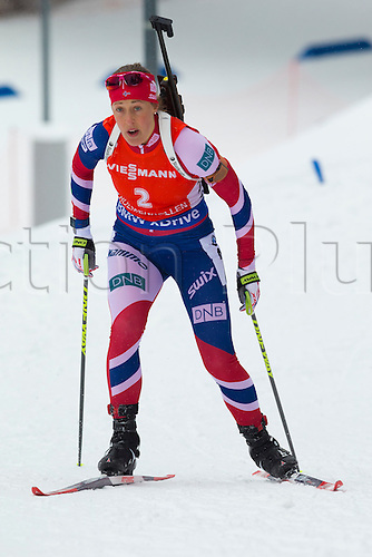 05.03.2016. Oslo Holmenkollen, Oslo, Norway. IBU Biathlon World Cup. Day One.  Fanny Horn Birkeland of Norway competes in the Ladies 7.5km sprint competition during the IBU World Championships Biathlon in Holmenkollen Oslo, Norway.