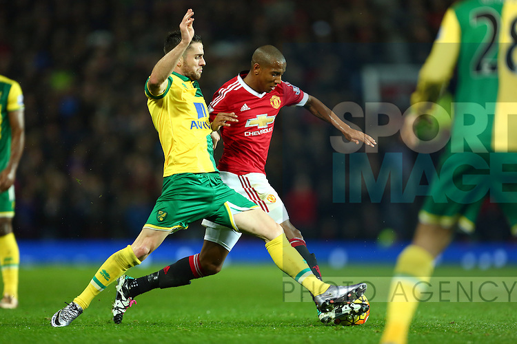 Norwich's Robbie Brady battles Ashley Young of Manchester United - Manchester United vs Norwich City - Barclays Premier League - Old Trafford - Manchester - 19/12/2015 Pic Philip Oldham/SportImage