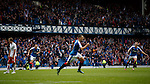Lee Wallace celebrates after scoring the third goal for Rangers