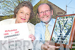 MS READATHON: Scoil Realta na Maidne in Listowel are celebrating a decade of reading success this week as they were presented with a special award for ten years of supporting the MS Readathon. Pictured are Mary Doyle, Listowel/North Kerry MS Society with principal Cathal Fitzgerald.    Copyright Kerry's Eye 2008