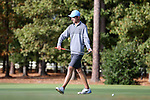 CHAPEL HILL, NC - OCTOBER 07: UNC's Joshua Martin on the 1st green. The first round of the Tar Heel Intercollegiate Men's Golf Tournament was held on October 7, 2017, at the UNC Finley Golf Course in Chapel Hill, NC.