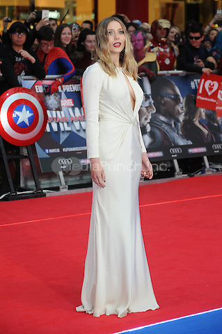 LONDON, ENGLAND - APRIL 26: Elizabeth Olsen attends the European premiere of Captain America: Civil War at Westfield Shopping Centre on April 26, 2016 in London, England.<br /> CAP/BEL<br /> &copy;BEL/Capital Pictures /MediaPunch ***NORTH AMERICAN AND SOUTH AMERICAN SALES ONLY***