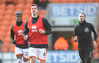 Blackpool's Ben Heneghan during the pre-match warm-up <br /> <br /> Photographer Kevin Barnes/CameraSport<br /> <br /> The EFL Sky Bet League One - Blackpool v Walsall - Saturday 9th February 2019 - Bloomfield Road - Blackpool<br /> <br /> World Copyright © 2019 CameraSport. All rights reserved. 43 Linden Ave. Countesthorpe. Leicester. England. LE8 5PG - Tel: +44 (0) 116 277 4147 - admin@camerasport.com - www.camerasport.com