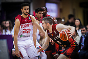 5th September 2017, Fenerbahce Arena, Istanbul, Turkey; FIBA Eurobasket Group D; Turkey versus Belgium; Point Guard Quentin Serron #10 of Belgium in action against Shooting Guard Furkan Korkmaz of Turkey  during the match