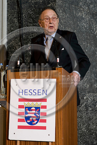 "Brussels-Belgium - 17 March 2009 -- ""Die Deutschen Wendejahre - Wege in die Freiheit / The Turning Point in Germany - Paths to freedom"" - a symposium at the Palais des Académies; here, Dr. h.c. Hans-Dietrich GENSCHER, Federal Minister ret. of Germany, during his contribution -- Photo: Horst Wagner / eup-images"